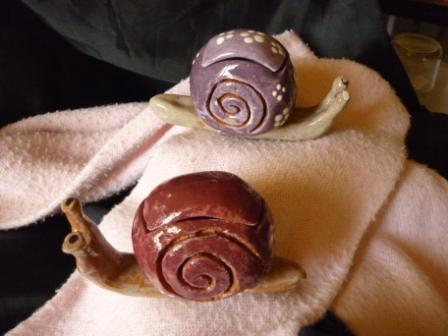 Des escargots boites